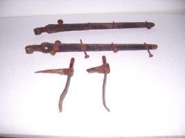 Foto 6 Alte Langbänder Türbeschlag mit Türkloben und geschmiedeten Nägel