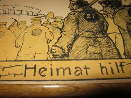 Alte Postkarte um 1920 ''Heimat hilf....''