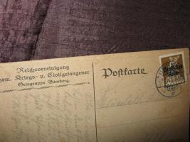 Foto 2 Alte Postkarte um 1920 ''Heimat hilf....''