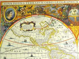 Foto 2 Alte Weltkarte Die Welt 1641 (B038)