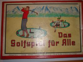 Altes Brettspiel: Das Golfspiel für Alle