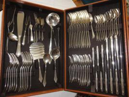 Altes WMF Besteck, Fächerdesign, 90er Silberauflage