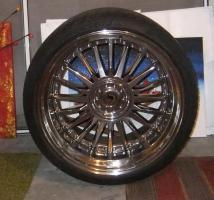 Alufegen Schmidt CC-Line Durochrom 9,5x20et14 u.12x20et20 für BMW mit Reifen