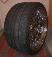Foto 2 Alufegen Schmidt CC-Line Durochrom 9,5x20et14 u.12x20et20 für BMW mit Reifen
