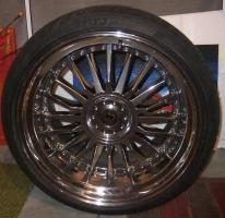 Foto 3 Alufegen Schmidt CC-Line Durochrom 9,5x20et14 u.12x20et20 für BMW mit Reifen