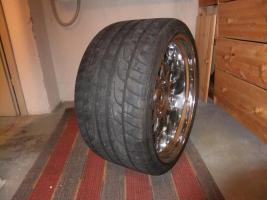 Foto 5 Alufegen Schmidt CC-Line Durochrom 9,5x20et14 u.12x20et20 für BMW mit Reifen