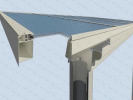 Foto 3 Aluminium Terrassenüberdachung 4000 x 2500 schon ab: