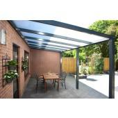 Foto 4 Aluminium Terrassenüberdachung 4000 x 2500 schon ab: