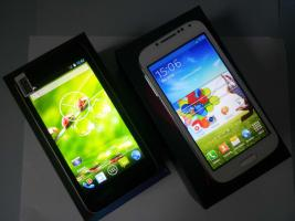 Foto 4 Android Smartphones 5'' Handy 1,3 GHZ Quadcore S4 HD Air Gesture