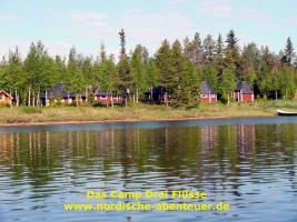 Angel-Camp Drei Flüsse in der Wildnis Schwedisch-Lapplands