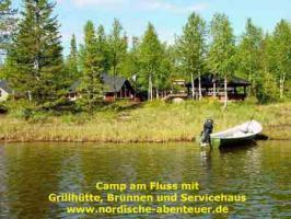Foto 2 Angel-Camp Drei Flüsse in der Wildnis Schwedisch-Lapplands
