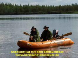Foto 8 Angel-Camp Drei Flüsse in der Wildnis Schwedisch-Lapplands