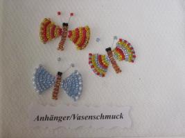 Anhänger / Vasenschmuck Schmetterlinge