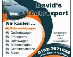 Ankauf von Mietwagen Taxiwagen Transporter Firmenwagen