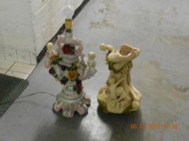 Antik Lampe und Vase