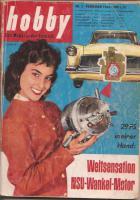 Antiquarische Technikzeitschrift ''Hobby'', 11 Hefte aus den Jahren 1959 bis 1961