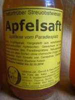Foto 3 Apfelssaft naturtrüb von Streuobstwiesen aus dem Naturpark Hoher Fläming