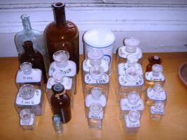 Apothekenflaschen-Sammlung