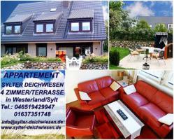01 Ferienwohnung Sylt Sylter Deichwiesen für 4 oder 5 Personen www.syl