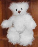 Foto 2 Ashton-Drake-Gallery Teddy #917 Weiss 30 cm 5-fach Scheiben Handmade