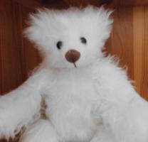 Foto 3 Ashton-Drake-Gallery Teddy #917 Weiss 30 cm 5-fach Scheiben Handmade