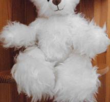 Foto 4 Ashton-Drake-Gallery Teddy #917 Weiss 30 cm 5-fach Scheiben Handmade