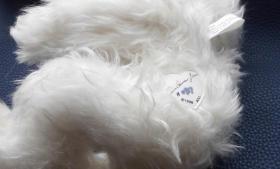 Foto 5 Ashton-Drake-Gallery Teddy #917 Weiss 30 cm 5-fach Scheiben Handmade