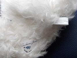 Foto 6 Ashton-Drake-Gallery Teddy #917 Weiss 30 cm 5-fach Scheiben Handmade