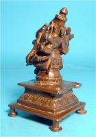 Foto 3 Asiatica, Lakshmi-Narasimha, Skulptur, Indien, Bronzeguss, Shakti Mahalakshmi, Asien, Schutzgottheit
