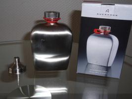 Auerhahn Taschenflasche mit Trichter  - Neu