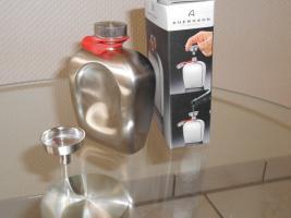 Foto 4 Auerhahn Taschenflasche mit Trichter  - Neu