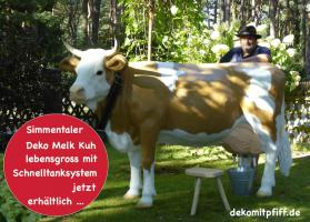 Foto 4 Aufsitzen auf Deko Pferd bzw Deko Kuh ….