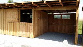 Foto 16 Außenboxen -Hütten massiv auch mit Heu- und Sattelkammer