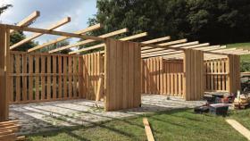 Foto 20 Außenboxen -Hütten massiv auch mit Heu- und Sattelkammer