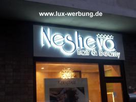 Foto 32 Außenwerbung Außenreklame Leuchtschilder Leuchtkästen beleuchtete Schriftzüge 3D LED Leuchtbuchstaben Einzelbuchstaben  Gewerbeimmobilien 3D LED RGB