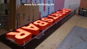 Foto 3 Außenwerbung für Gastro Berlin 3D Plexibuchstaben mit LED Beleuchtung Leuchtbuchstaben Beleuchtete Einzelbuchstaben Leuchtkästen Leuchtschilder Werbeschilder Beleuchtete Schriftzüge Metallbuchstaben Acrylbuchstaben Profilbuchstaben Leuchtreklame Lichtrekl