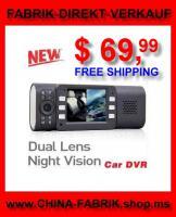 Auto Cam-Video HD Dash-Cam Dual-Lens nur €  54 versandkostenfrei