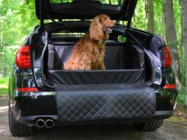 Foto 2 Auto Hunde Kofferraumbett Travelmat Plus Kunstleder Hunde Auto Reisebett diverse Größen & Farben