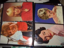 Autogrammkarten aus Film und Musik