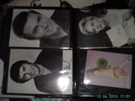 Foto 4 Autogrammkarten aus Film und Musik