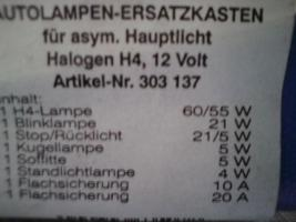 Foto 2 Autolampen-Ersatzteilkasten, Hallogen, 12 Volt
