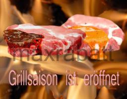BBQ - Grillsaison Logo und Druckvorlage