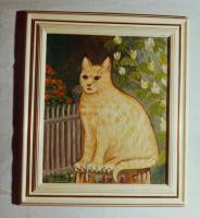 BOB die Katze Ölbild