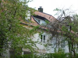Blick zur Dachterrasse