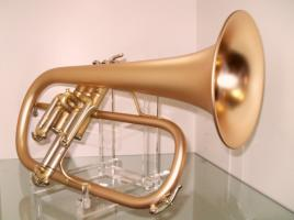 B & S 3145 G - E Goldmessing Elaboration Flügelhorn - Made in Germany - Neuware.