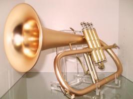Foto 2 B & S 3145 G - E Goldmessing Elaboration Flügelhorn - Made in Germany - Neuware.