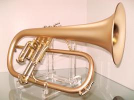 Foto 4 B & S 3145 G - E Goldmessing Elaboration Flügelhorn - Made in Germany - Neuware.