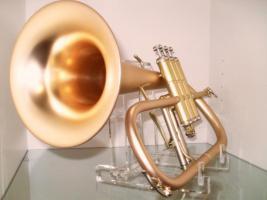 Foto 5 B & S 3145 G - E Goldmessing Elaboration Flügelhorn - Made in Germany - Neuware.