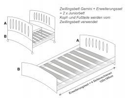 Foto 2 Baby Zwillingsbett Gemini Vollholz Buche Bett für Zwilling Azzurra Design