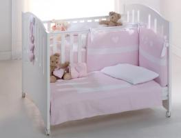 Foto 4 Baby Zwillingsbett Gemini Vollholz Buche Bett für Zwilling Azzurra Design